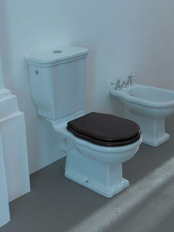 ARTCERAM Hermitage WC stojące do spłuczki białe typ P - odpływ do ściany  36x71cm HEV0040100 - Oferta do wyczerpania zapasów