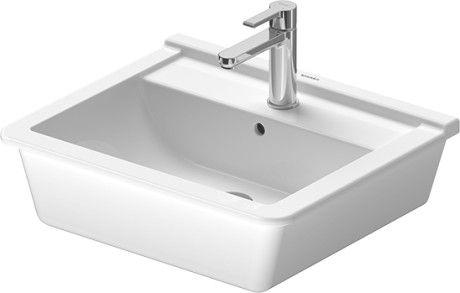 DURAVIT Starck 3 Umywalka blatowa 56 x 46,5 cm, biała z powłoką wondergliss 03025600001