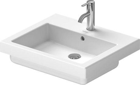 DURAVIT Vero Umywalka blatowa 55 x 46 cm, biała z powłoką wondergliss 03155500001