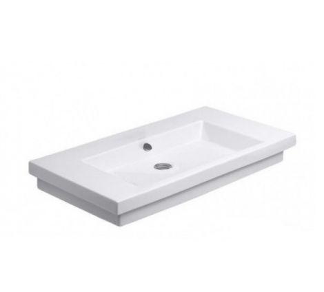 DURAVIT 2nd floor Umywalka szlifowana 80x50 cm biała z powłoką wondergliss 04918000281