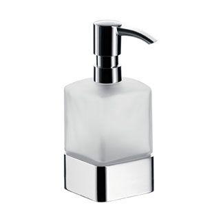 EMCO Loft Dozownik do mydła w płynie stojący z pompka plastikową chrom 052100102