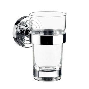 EMCO Polo Szklanka - szkło z uchwytem naścienna chrom 072000100