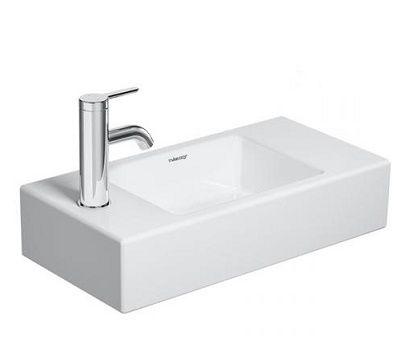 DURAVIT Vero Air Umywalka mała 50 x 25 cm, z otworem pod baterię z lewej strony, biała 07245000091
