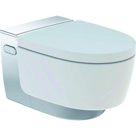 GEBERIT AquaClean Mera Classic Urządzenie WC z funkcją higieny intymnej, wisząca miska WC kolor biały / chrom 146202211 + Oferta do wyczerpania zapasów