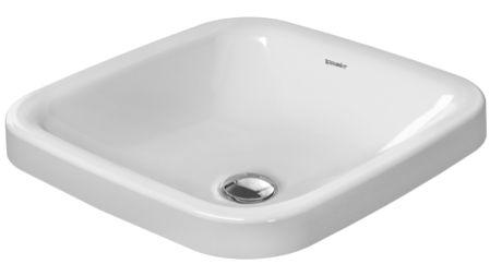 DURAVIT DuraStyle umywalka blatowa 43x43 cm biała z powłoką wondergliss 03724300001
