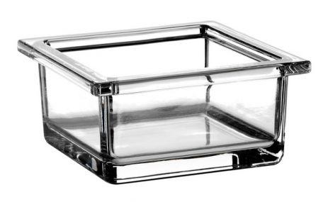 EMCO Liaison Szklane naczynie kwadratowe 98x46x46 cm, chrom 186600000,