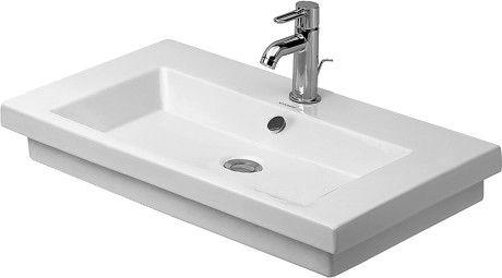 DURAVIT 2nd floor Umywalka z 3 otworami pod baterię 70x46 cm, biała z powłoka wondergliss 04917000301 +