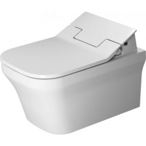DURAVIT P3 Comforts toaleta wisząca do deski SensoWash lejowa 380 x 570 mm Rimless bez rantu spłukującego biała  2561592000