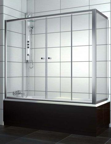 RADAWAY Vesta  Ścianka do zabudowy nawannowej 800x1500 mm chrom, szkło przejrzyste z powłoką Easy Clean 204080-01