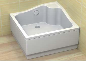 RADAWAY KORFU C Brodzik kwadratowy 90x90 biały 4C99400-03