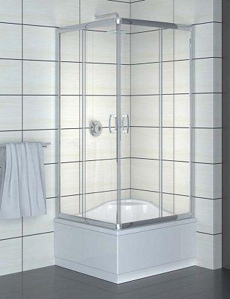 RADAWAY Premium Plus C 1700 Kabina kwadratowa 80x 80 z drzwiami przesuwnymi , szkło brązowe z powłoką Easy Clean , chrom 30461-01-08N