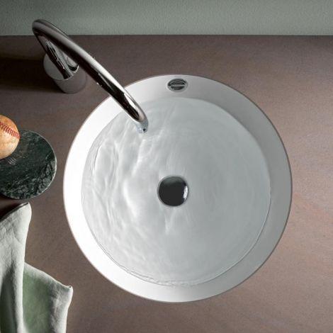 Alape umywalka podblatowa, stal emaliowana biała z powłoką, średnica 409mm 2032700400