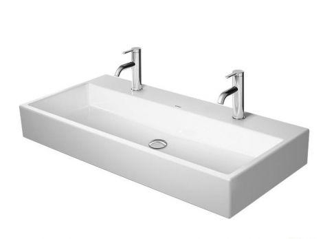 DURAVIT Vero Air Umywalka meblowa 100 x 47 cm z 2 otworami na baterię, biała z powłoką wondergliss 23501000431