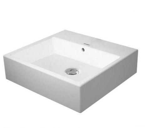 DURAVIT  Vero Air Umywalka stawiana 50x47 cm szlifowana bez otworów na baterię, biała 2352500060
