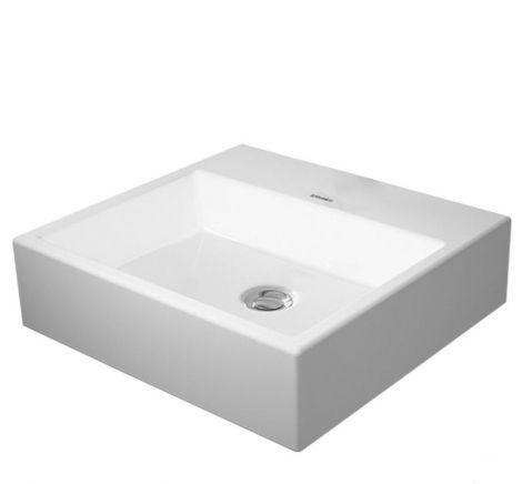 DURAVIT Vero Air Umywalka stawiana 50 x 47 cm, bez otworu pod baterię, biała z powłoką wondergliss 23525000701