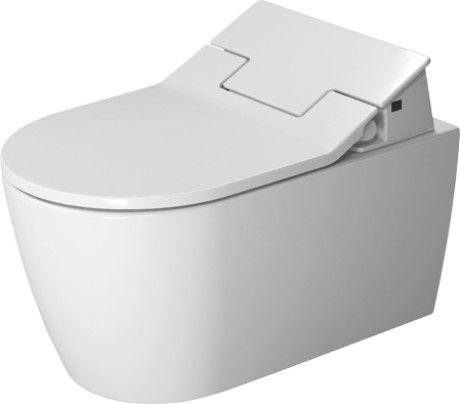 DURAVIT Me by Starck toaleta wisząca do deski SensoWash 37x57 cm lejowa rimless bez rantu spłukującego biała z powłoką WonderGliss 25295900001 +