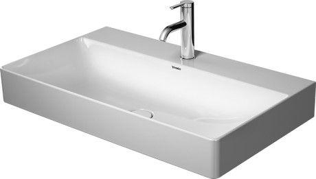 DURAVIT DuraSquare umywalka meblowa 80 x 47 cm, bez przelewu biała z powłoką wondergliss 23538000411 +