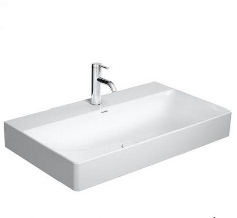 DURAVIT DuraSquare Umywalka szlifowana 800 x 470 mm biała  z powłoką wondergliss 23538000711