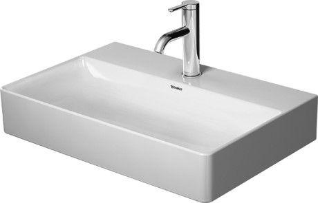 DURAVIT DuraSquare umywalka meblowa Compact 600 x 400 mm, bez przelewu biała 2356600041 + Oferta do wyczerpania zapasów