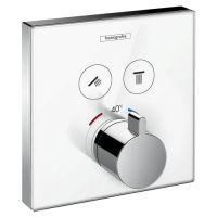 HANSGROHE ShowerSelect Glass Bateria termostatyczna do 2 odbiorników biały/ chrom 15738400 + Oferta do wyczerpania zapasów