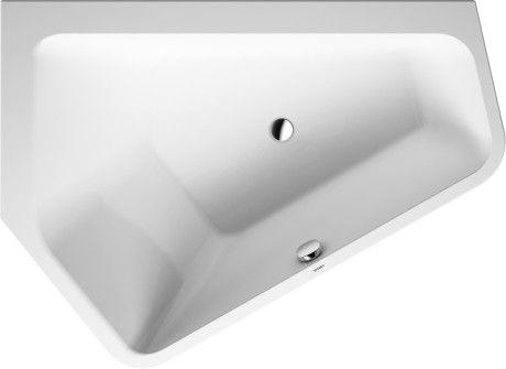 DURAVIT Paiova wanna akrylowa ze zintegrowaną obudową narożna lewa 1770 x 1300 mm biała 70039400000000
