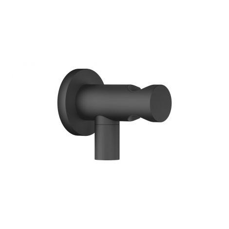 DORNBRACHT Kolanko przyłączeniowe, ścienne z zintegrowanym uchwytem rączki prysznica czarny matowy 28490660-33