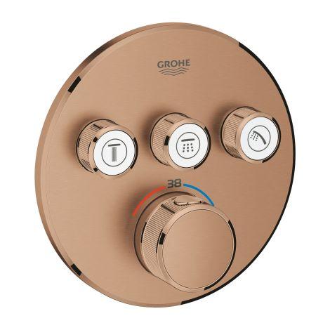 GROHE-SmartControl Bateria termostatyczna do obsługi trzech wyjść wody brushed warm sunset 29121DL0 +produkt pod zamówienie
