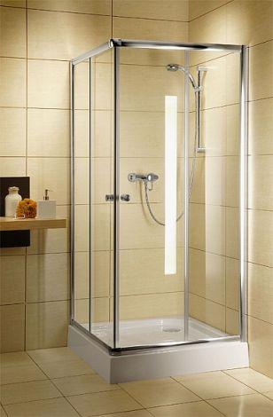 RADAWAY Classic C kabina kwadratowa 80 x 80 x 185 cm biały / szkło przejrzyste 30060-04-01