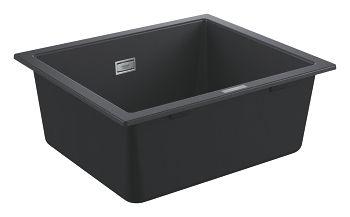 GROHE-K700 Podblatowy Zlewozmywak kompozytowy 533 x 457 mm Kolor czarny granit 31654AP0 +