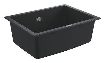 GROHE-K700 Podblatowy Zlewozmywak kompozytowy 610 x 460 mm Kolor czarny granit 31655AP0 +