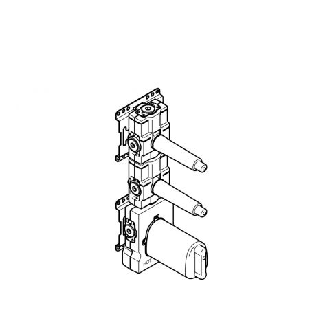 """DORNBRACHT xTOOL moduł termostatu podtynkowy z 2 zaworami 3/4"""" 3552197090"""