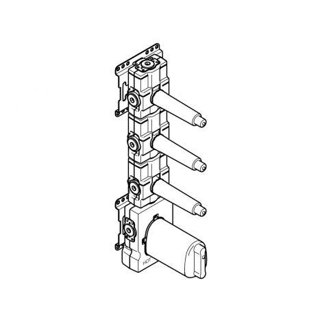 """DORNBRACHT xTOOL moduł termostatu podtynkowy z 3 zaworami 3/4"""" 3553197090"""