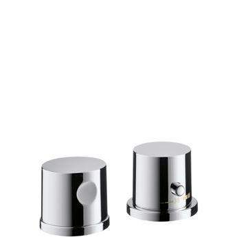 HANSGROHE AXOR UNO 2-otworowa bateria termostatyczna wannowa do montażu na brzegu wanny, chrom 38480000 +