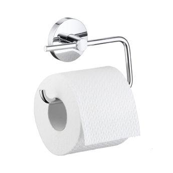 HANSGROHE Logis Uchwyt na papier toaletowy, bez pokrywy chrom 40526000 + Oferta do wyczerpania zapasów
