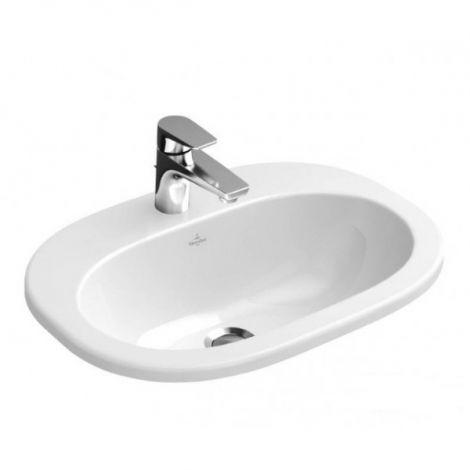 VILLEROY&BOCH O.Novo Umywalka nablatowa 56x40,5 cm biała Weiss Alpin z powłoką CeramicPlus 416157R1 -