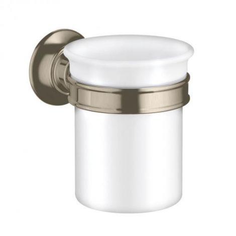 HANSGROHE AXOR Montreux Kubek do mycia zębów nikiel szczotkowany 42134820 +