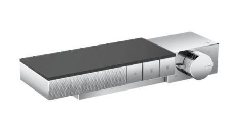 HANSGROHE Axor Edge Moduł termostatyczny do montażu podtynkowego, do 3 odbiorników - szlif diamentowy, chrom 46141000 +