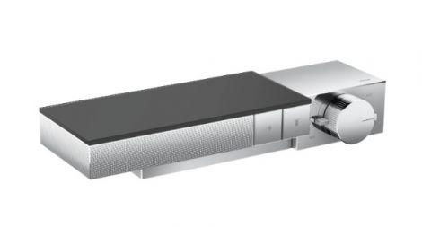 HANSGROHE Axor Edge Moduł termostatyczny do montażu podtynkowego, element zewnętrzny do 2 odbiorników - szlif diamentowy, chrom 46241000 +