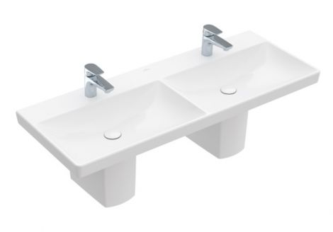 VILLEROY&BOCH Avento Umywalka meblowa podwójna, biała Weiss Alpin 4A23CG01 -