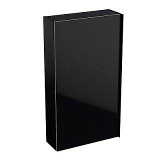 GEBERIT Acanto Górna szafka 82x45 cm, korpus lakierowany matowy, czarny 500639161 -