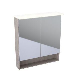 GEBERIT Acanto Szafka z lustrem 83x74 cm, korpus melaminowa struktura drewna, dąb mystic 500645002 -
