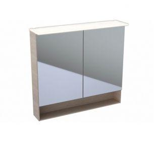 GEBERIT Acanto Szafka z lustrem 83x89 cm, korpus melaminowa struktura drewna, dąb mystic 500646002 -