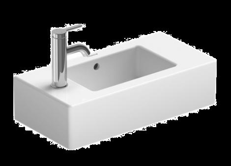 DURAVIT Vero Umywalka mała 50 x 25 cm, z otworem pod baterię z lewej strony, biała z powłoką Wondergliss 07035000091 + Oferta do wyczerpania zapasów