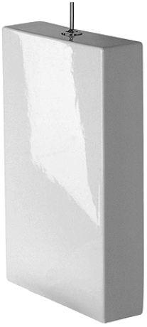 DURAVIT Starck 1 Spłuczka 39 x 12,5 cm z systemem spłukiwania Dual Flush, biała z powłoką wondergliss 87271000051
