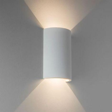 ASTRO LIGHTING Serifos 170 gipsowa lampa ścienna kinkiet, biała 7375