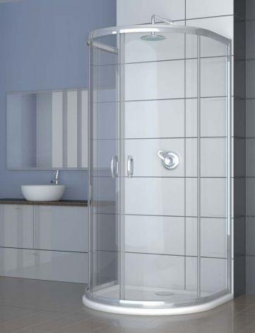 Radaway Premium Plus P Kabina półokrągła  przyścienna z drzwiami  dwuczęściowymi  1000x900x1900 mm szkło brązowe z powłoką Easy Clean  33300-01-08N
