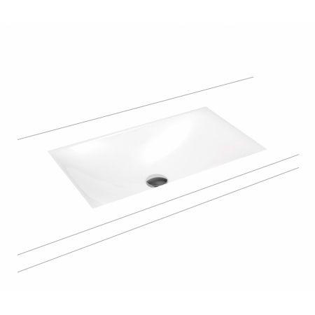 KALDEWEI SILENIO  umywalka podblatowa bez przelewu 634x391 biały 906006313001 -