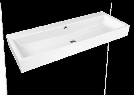KALDEWEI Puro Umywalka ścienna podwójna, z przelewem, biała 906806043001