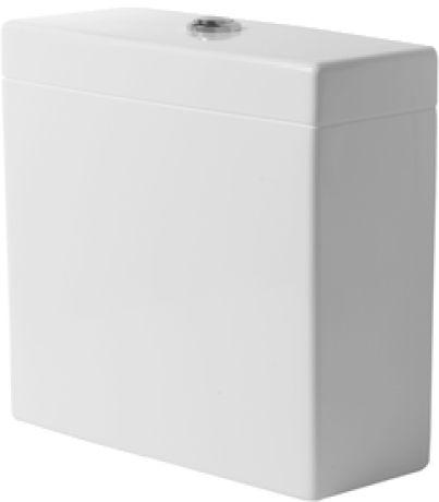 DURAVIT Vero Spłuczka z systemem spłukiwania Dual Flush, chrom, biała z powłoką wondergliss 09091000051