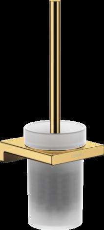 HANSGROHE AddStoris Szczotka do WC z pojemnikiem złoty optyczny polerowany 41752990